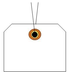 針金荷札の呼称のご説明です。